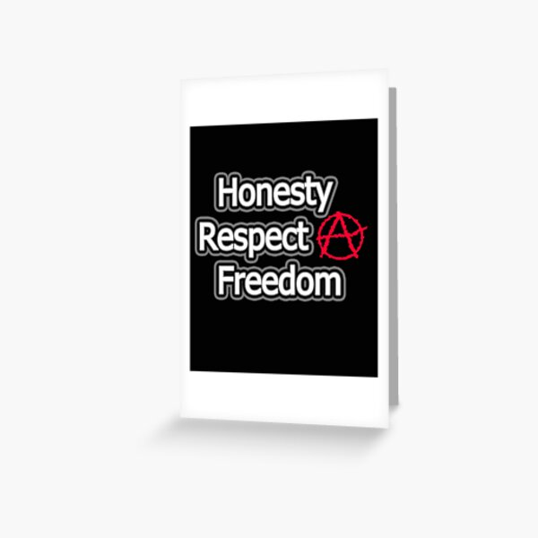 Honesty Respect Freedom Relationship Anarchy Free Poly Love Gift Mask Greeting Card