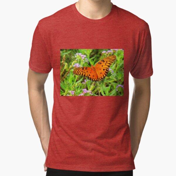 Orange Butterfly Windows From Heaven Tri-blend T-Shirt