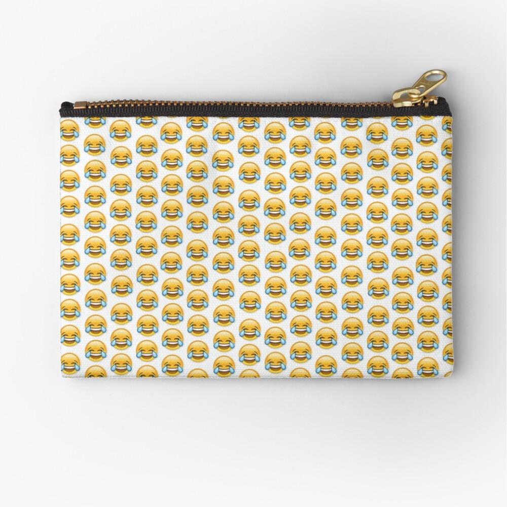 Schreiendes lachendes emoji Täschchen