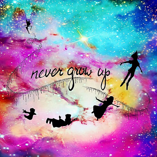 Never Grow Up Peter Pan Nebula Photographic Prints By Closeeyes