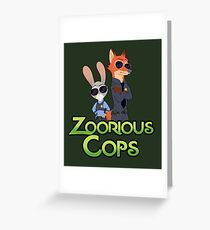 Zoorious Cops (Serious Cops) Greeting Card