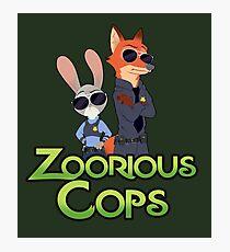 Zoorious Cops (Serious Cops) Photographic Print