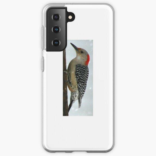 Woodpecker in Winter Samsung Galaxy Soft Case