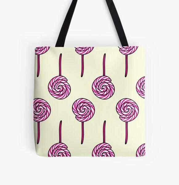 Raspberry Lollipop All Over Print Tote Bag