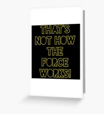 Star Wars Quote Han Solo Greeting Card