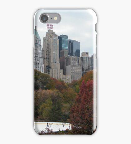 NY November Wollman Rink, Central Park, Fall Foliage iPhone Case/Skin