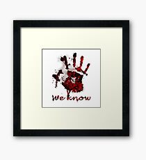 Dark Brotherhood Handprint Framed Print