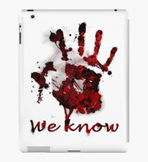 Dark Brotherhood Handprint iPad Case/Skin