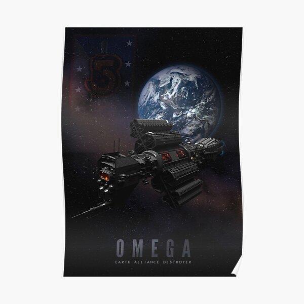 Babylon 5 - Earth Alliance Omega Destroyer Poster