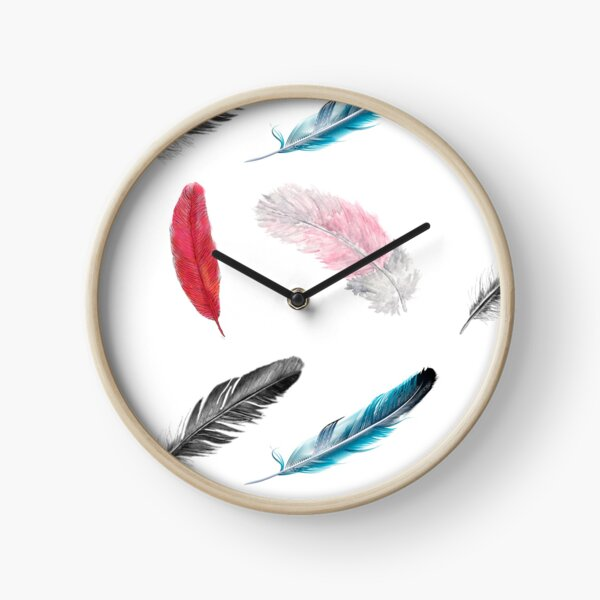 Feather madness Clock