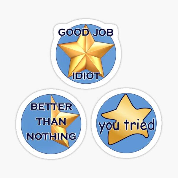 Triple Gold Star Sticker Set Sticker