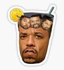 Just Some Ice Tea and Ice Cubes Sticker