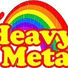 Funny Heavy Metal Rainbow by robotface