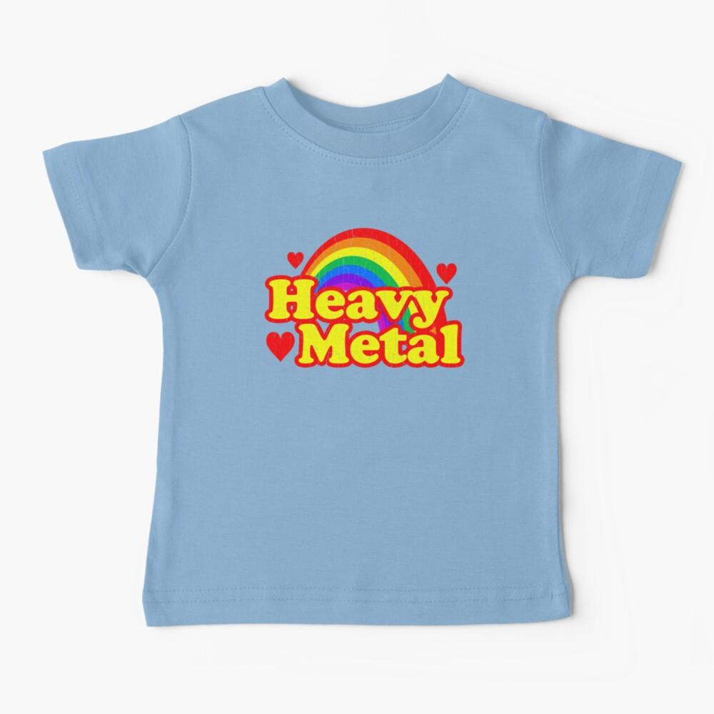 Funny Heavy Metal Rainbow Baby T-Shirt