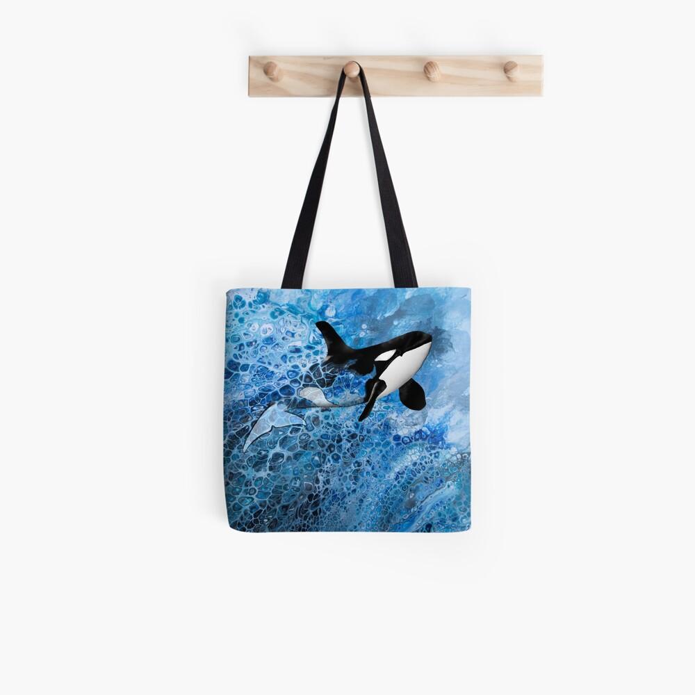 Mystischer Orca Stofftasche