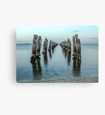 Clifton Springs Old Jetty at dusk Canvas Print