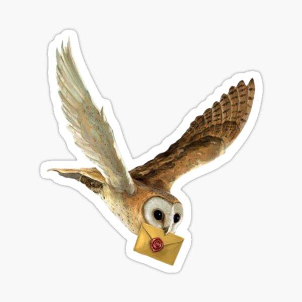 Flying Snowy White Owl  Sticker
