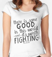 There's good in this world Women's Fitted Scoop T-Shirt
