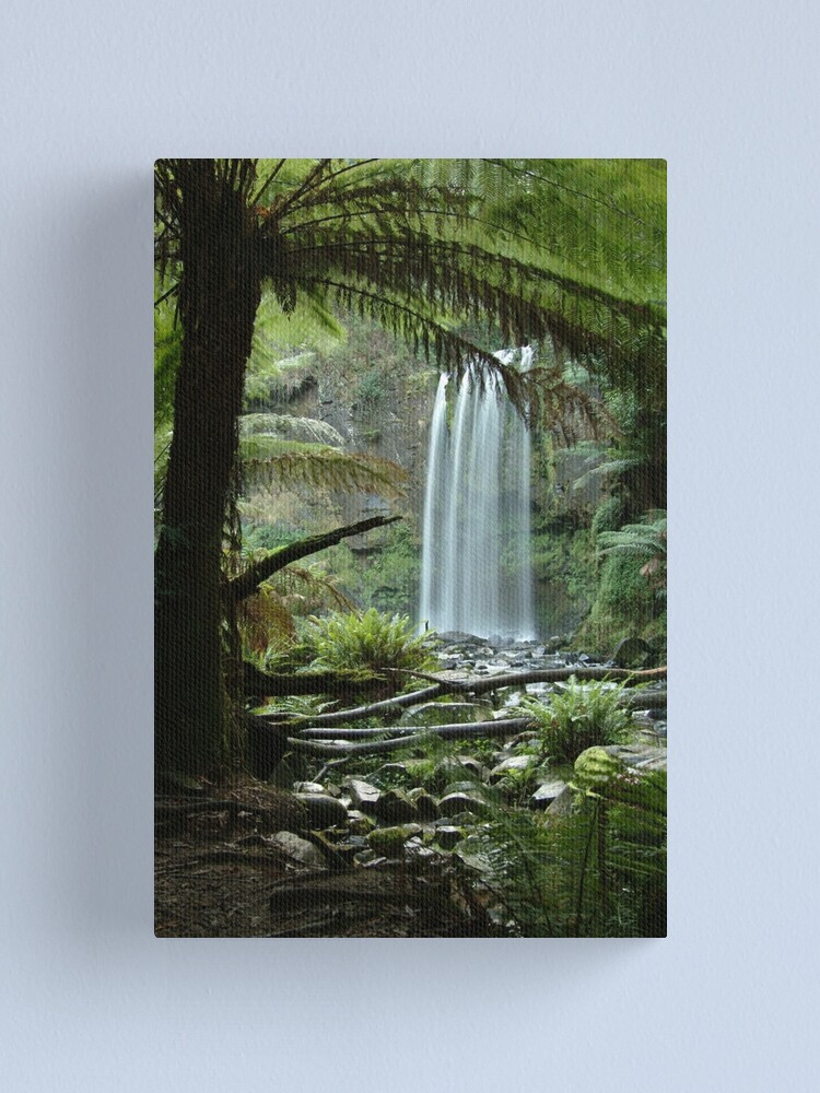 Alternate view of Joe Mortelliti Gallery - Hopetoun Falls, Otways Forest, Victoria, Australia. Canvas Print