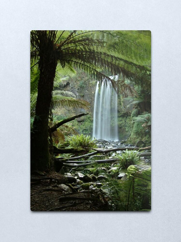 Alternate view of Joe Mortelliti Gallery - Hopetoun Falls, Otways Forest, Victoria, Australia. Metal Print