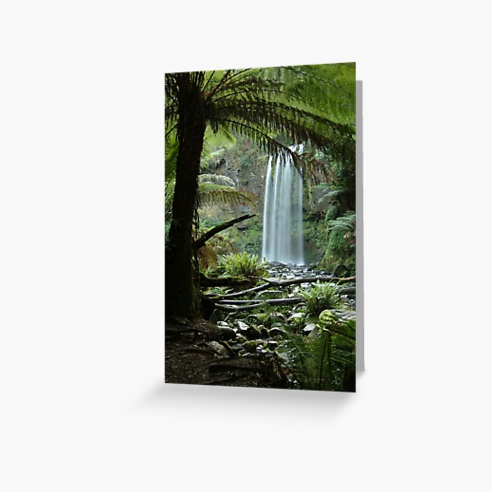 Joe Mortelliti Gallery - Hopetoun Falls, Otways Forest, Victoria, Australia. Greeting Card