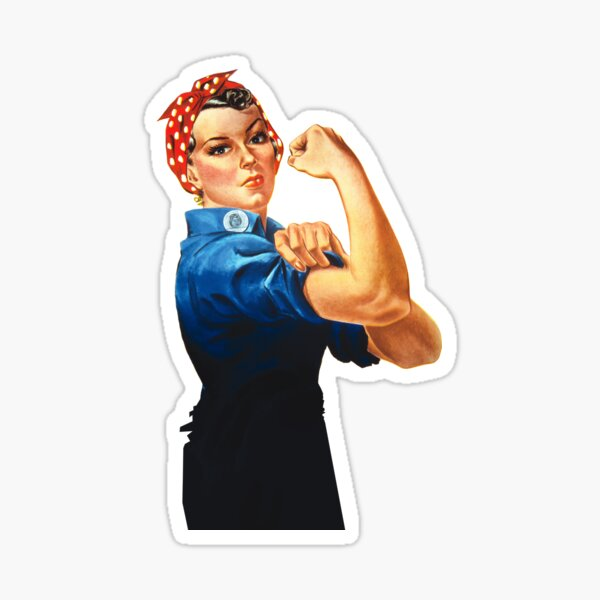 Rosie The Riveter Retro Style design Sticker