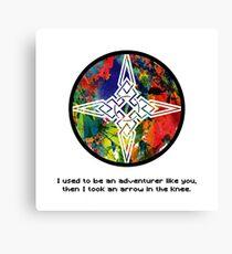 Took an Arrow in the Knee - Dawnstar Version Canvas Print