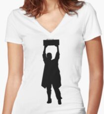 Say Anything- Boombox  Women's Fitted V-Neck T-Shirt