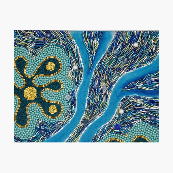 Coral Reef Hand Embroidery Photographic Print