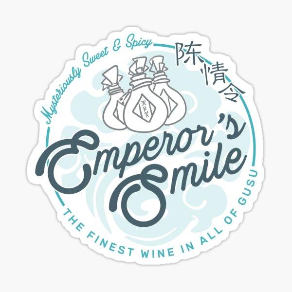 Sonrisa del Emperador Pegatina