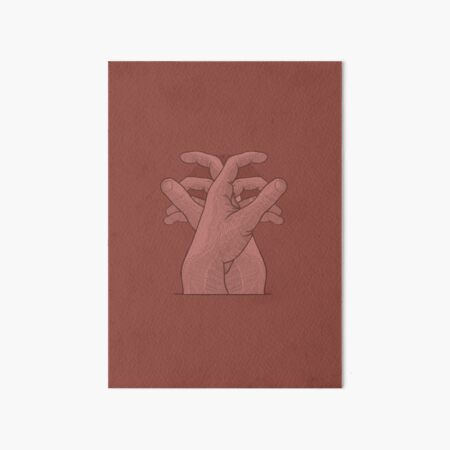 Two Detailed Hands In A Relaxing Brown Color Art Board Print