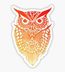 Owl orange gradient Sticker