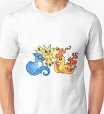 Pokemon Kanto legendary birds Unisex T-Shirt