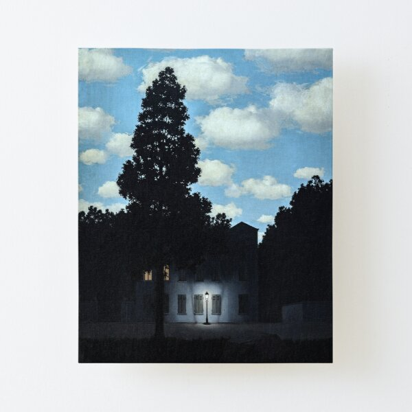 The Empire of Light, Magritte (HQ) Canvas Mounted Print