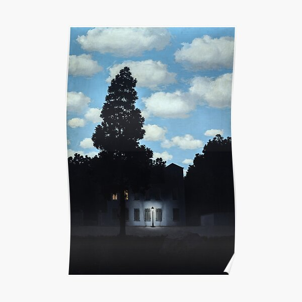 The Empire of Light, Magritte (HQ) Poster
