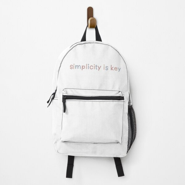 Simplicity is Key Multicolor (Pink/Blue) Backpack