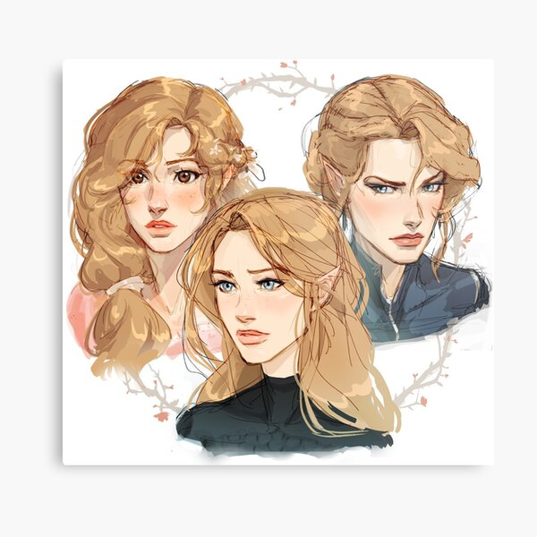 Archeron Sisters - A Court of Thorns and Roses Metal Print