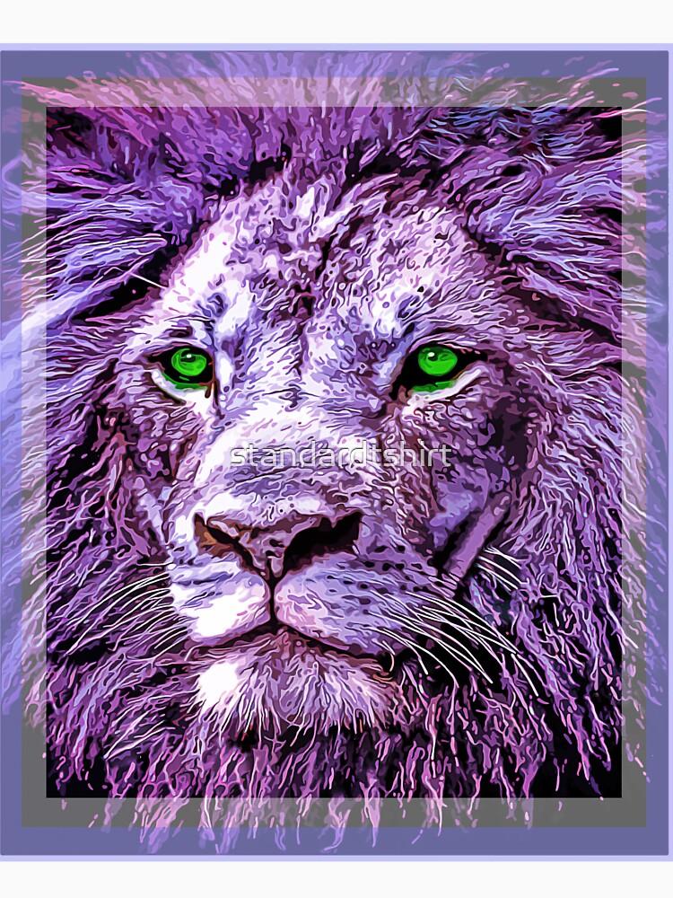 Colorful Lion Head Oil Paint unisex novelty graphics T-shirt by standardtshirt