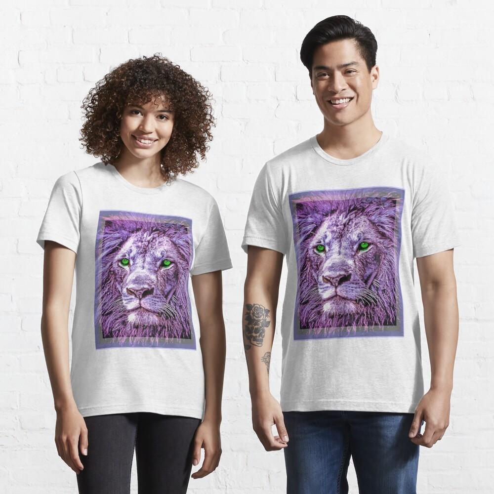 Colorful Lion Head Oil Paint unisex novelty graphics T-shirt Essential T-Shirt