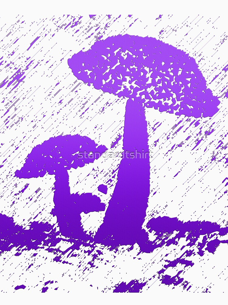 Abstract frog umbrella under rain graphics unisex novelty Design by standardtshirt