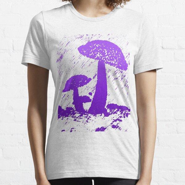 Abstract frog umbrella under rain graphics unisex novelty Design Essential T-Shirt