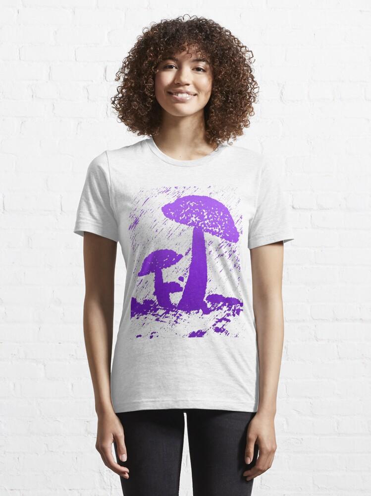 Alternate view of Abstract frog umbrella under rain graphics unisex novelty Design Essential T-Shirt
