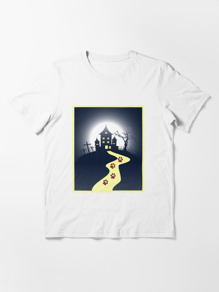 Alternate view of Dark Horror Castle Horror Cat House Unisex Novelty T-shirt Essential T-Shirt