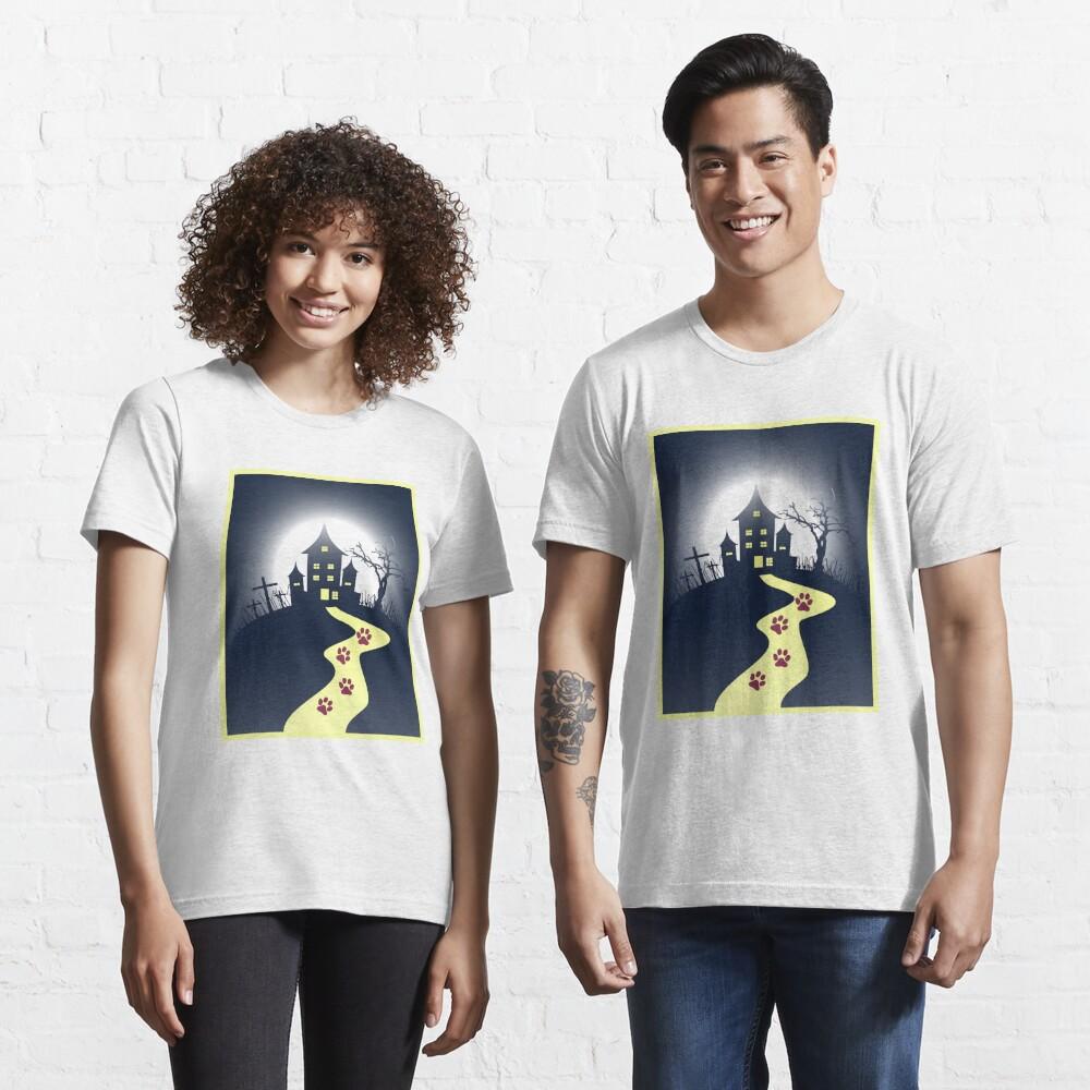 Dark Horror Castle Horror Cat House Unisex Novelty T-shirt Essential T-Shirt