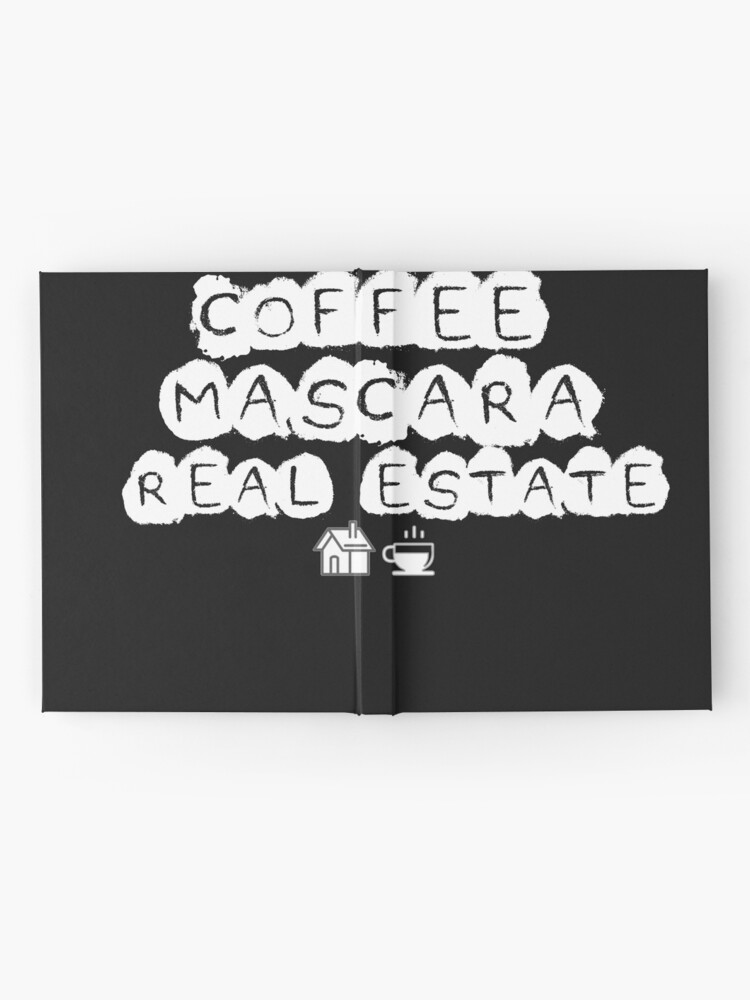 Alternate view of Coffee Mascara Real Estate Hardcover Journal
