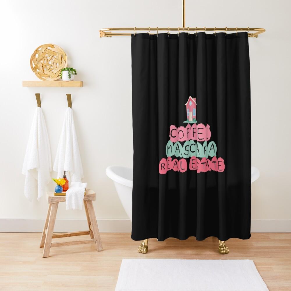 Coffee Mascara Real Estate Shower Curtain