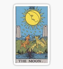 Tarot Card - The Moon Sticker