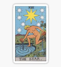 Tarot Card - The Star Sticker