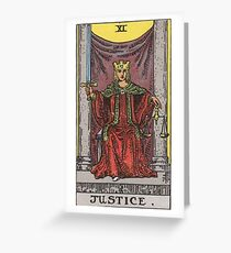 Tarot Card - Justice Greeting Card