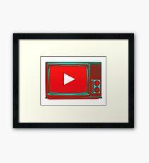 Youtube vintage tv Framed Print